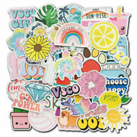 100x Vinyl Cute Vsco Stickers Pack Luggage Laptop Guitar Water Bottle Decals Lot