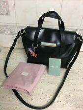Gorgeous Ladies Black Leather Radley Grab/ Messenger Bag @ Dog Keyring @ Cover
