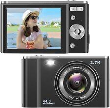 IEBRT Ultra HD Digital Camera, 2.7K 44MP Kid Vlogging Camera Video (2.8 inch)