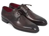 Paul Parkman Men's Brown Medallion Toe Derby Shoes (ID#6584-BRW)