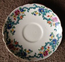 "Vintage Antiguo Royal Cauldon ""victoria"" inglés Bone China 6""/15cm Platillo"