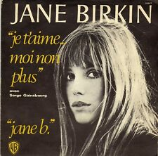 JANE BIRKIN & SERGE GAINSBOURG JE T'AIME... MOI NON PLUS / JANE B. FR 45 SINGLE