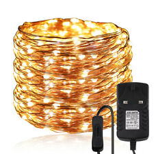 LED Silver Copper Wire String Lights Christmas Wedding Garland Outdoor Decor 12V
