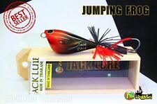Jumping Frog 4.5 or 5.5 cm Fishing Lure Wood Handmade Topwater Original Thailand