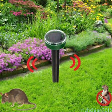 2018 Garden Solar Powered Mole, Rodent Sonic Repeller Pest Control NJS