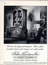 1962 Print Ad Baker Furniture Cabinet Makers Holland,MI