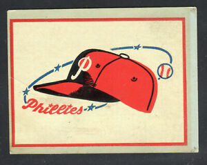 1961-1962 Fleer MLB Phillies Decal - Blue Back Variant - Team Logo