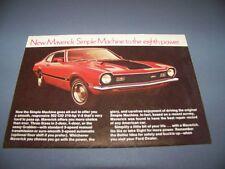 """VINTAGE..1971 FORD MAVERICK """"GRABBER"""" (RED)..ORIGINAL SALES AD...RARE! (519F)"""