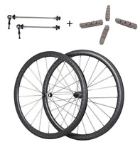 40mm 18K Carbon Tubular/Clincher 700C Road Shimano 11s Wheel Wheelset 27mm Width