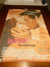 LATE FOR DINNER(1991) BRIAN WIMMER ORIGINAL ONE SHEET POSTER+
