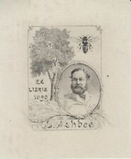 Ex-libris Henry Spencer ASHBEE (1824-1900) dessiné par Paul AVRIL (1849-1928).