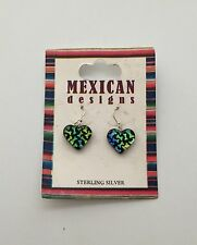 New Mexican Designs Heart Earrings Jewelry Sterling Silver 925