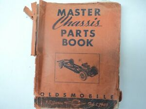 OEM 1949 Olds Master Chassis Parts Book Manual Oldsmobile Book Late 30's-1949