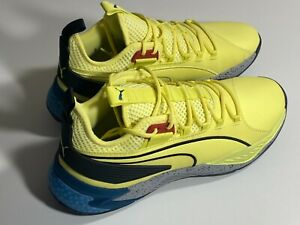 Puma Uproar Spectra Mens Yellow Synthetic Basketball Athletic Shoes Size 12