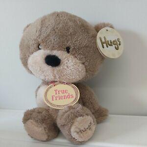 """Card Factory Hugs Teddy Bear  Soft Toy Plush True Friends  10"""" tagged.."""