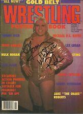 Eb1810 Tommy Rich signed Wrestling Magazine w/Coa Dream Team Fulton Eaton