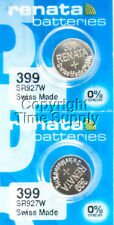 2 PC Renata 399 Watch Batteries SR927W FREE SHIP 0% MERCURY