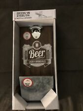Brooklyn Steel Co/ Bottle Opener Large Beer Sign With Opener Nib