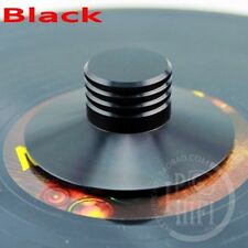 Black Record Weight Clamp LP Vinyl Turntables Metal Disc Stabilizer NEW