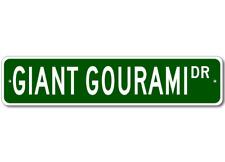 GIANT GOURAMI - Fishing - High Quality Aluminum Fish Street Sign