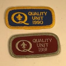 VINTAGE COLLECTIBLE PATCH HISTORICAL MEMORABILIA QUALITY UNIT 1990 PAIR INDUSTRY