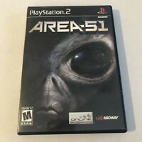 Area 51 PS2 (Sony PlayStation 2, 2005) Complete Black Label with Manual