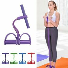 4 Tubes Foot Elastic Pedal Pull Rope Expander Muscle Fitness Resistance Bands