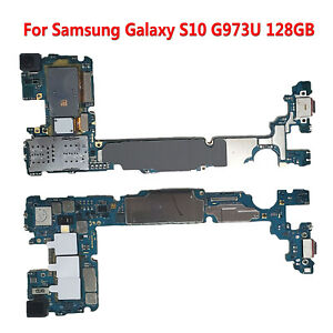 For Samsung Galaxy S10 SM-G973U 128GB Replacement Parts Main Motherboard Board
