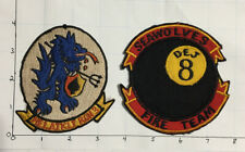 Group Of 2 - HAL 3 Helicopter Attack Light Squadron Three Seawolves Patch