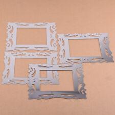 4pcs Flower Vine Sticker Light Mirror Switch Surround Wall Sticker Decal Plastic