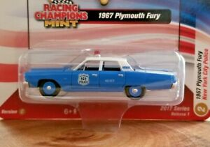 Racing Champions Mint 1967 Plymouth Fury NYC Police 1:64 Diecast Car VerC R1 #2