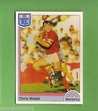 1992 RUGBY LEAGUE CARD #97 CHRIS WALSH, ILLAWARRA STEELERS