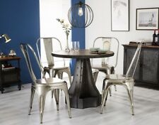Round Dining Table Eva Range made from Metal and Wood EV09