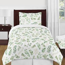Sweet Jojo Floral Leaf Girl 4pc Twin Bedding Comforter Set Kids Childrens Size