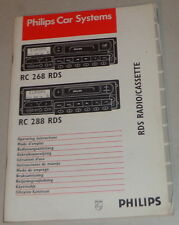 Betriebsanleitung Philips Autoradio RC 268 RDS / RC 288 RDS Stand 03/1996