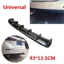 """36.6""""x5"""" Car SUV Rear Shark Fin Style Curved Addon Bumper Lip Diffuser 6 Fin Kit"""
