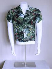 vtg 40s 50s IOLANI psychobilly RAYON CREPE rockabilly HAWAIIAN loop collar shirt