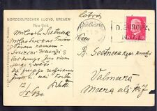 Germany, 1930, photo card from New York passenger ship Europa to Valmiera with..