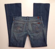 "7 Seven for All Mankind ""A"" Pocket Bling Blue Jeans Size 29 - W 31 x L 33 EUC"