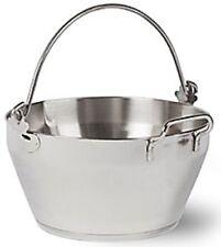 Large 8 Litre Stainless Steel Maslin Pan Jam Pan Preserve Pan & Handle Bucket