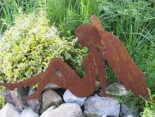 Edelrost Engel 30/60 Doppelflügel Dekoration Weihnachten Advent Terrasse Garten