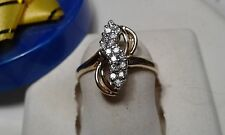 .30cttw Natural Diamond Double Row Zig Zag 10Kt Yellow Gold fashion Ring #7572A
