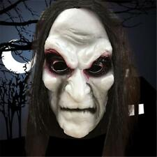 Halloween Zombie Mask Ghost Horror Full Face Wig Mask Scary Fancy Dress Party