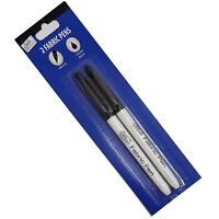 Laundry Pen  Fabric/ Textile Permanent Marker Pens  Black - For School Uniform