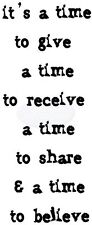 Crafty Impressions claro Sellos Toda ocasión tinchies su tiempo para compartir cicst 094