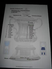1955-56 FA Cup SEMI FINALE MANCHESTER CITY V Tottenham Hotspur matchsheet