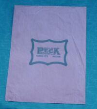 Vintage Advertising Peck Dry Goods Co. Store Kansas City Missouri Paper Bag Sack