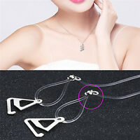 1pair Clear Transparent Hook Straps Invisible Adjustable Bra Shoulder Straps