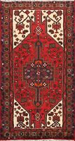 Tribal Traditional Geometric Hamedan Area Rug Wool Hand-knotted Foyer Carpet 3x5