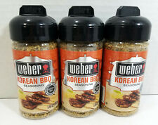 Lot of 3 Weber Grill Seasoning Korean BBQ 5.50 Oz Ea Gluten Free BB 01/05/21